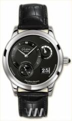 wristwatch Glashutte Original Panomaticreserve (Pt / Black / Leather)