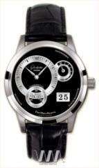 wristwatch Glashutte Original Panomaticreserve (Pt / Black_Silver / Leather)