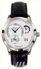 wristwatch Glashutte Original Panomaticreserve (SS / Silver / Leather)