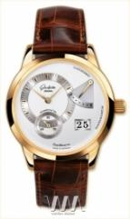wristwatch Glashutte Original Panoreserve (RG / Silver / Leather)