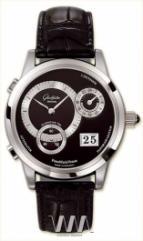 wristwatch Glashutte Original Panomaticvenue (Pt / Black_Silver / Leather)