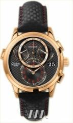 wristwatch Glashutte Original Panomaticchrono (RG / Black / Leather)