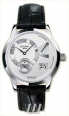 wristwatch Glashutte Original Panoreserve (SS / Silver / Leather)