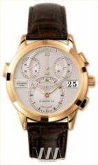 wristwatch Glashutte Original Panomaticchrono (RG / Silver / Alligator Leather)