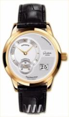 wristwatch Glashutte Original Panomaticdate (RG / Silver / Leather)
