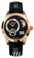 wristwatch Glashutte Original Panomaticlunar (RG / Black / Leather)