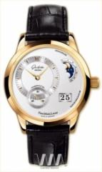 wristwatch Glashutte Original Panomaticlunar (RG / Silver / Leather)