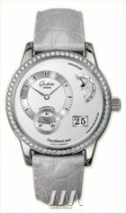 wristwatch Glashutte Original Panomaticlunar (WG_Diamonds / Silver / Leather)