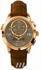 wristwatch Glashutte Original Panomaticchrono (RG / Mocca / Alligator Leather)