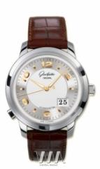 wristwatch Glashutte Original Panomaticcentral XL (WG / Silver / Leather)