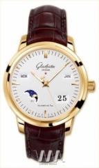 wristwatch Glashutte Original Senator Perpetual Calendar (RG / Silver / Leather)