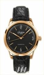 wristwatch Glashutte Original Senator Sixties (RG / Black / Leather)