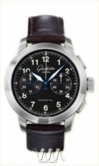 wristwatch Glashutte Original Senator Navigator Chronograph (SS / Black / Leather)