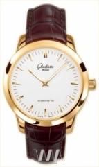 wristwatch Glashutte Original Senator Automatic (RG / Silver / Leather)