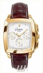 wristwatch Glashutte Original Senator Karree Chronograph (RG / Silver / Leather)