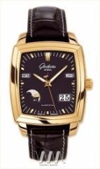 wristwatch Glashutte Original Senator Karree Perpetual Calendar (RG / Black / Leather)