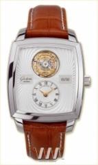 wristwatch Glashutte Original Senator Karree Tourbillon (Pt / Silver / Leather)