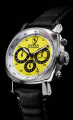 wristwatch Ferrari Chronograph Yellow Dial