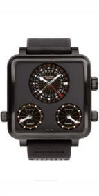 wristwatch Airman 7 Plaza Mayor Titanium black DLC