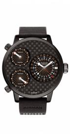 wristwatch Airman 7 Titanium black DLC